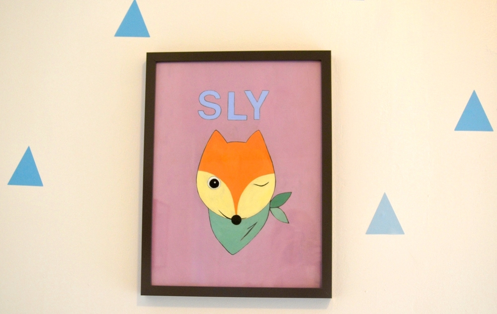 """Personalized """"Sly"""" Fox Painting by Artist Lisa Fontana, a friend of Katie's. For info email fontana.lisa@gmail.com"""