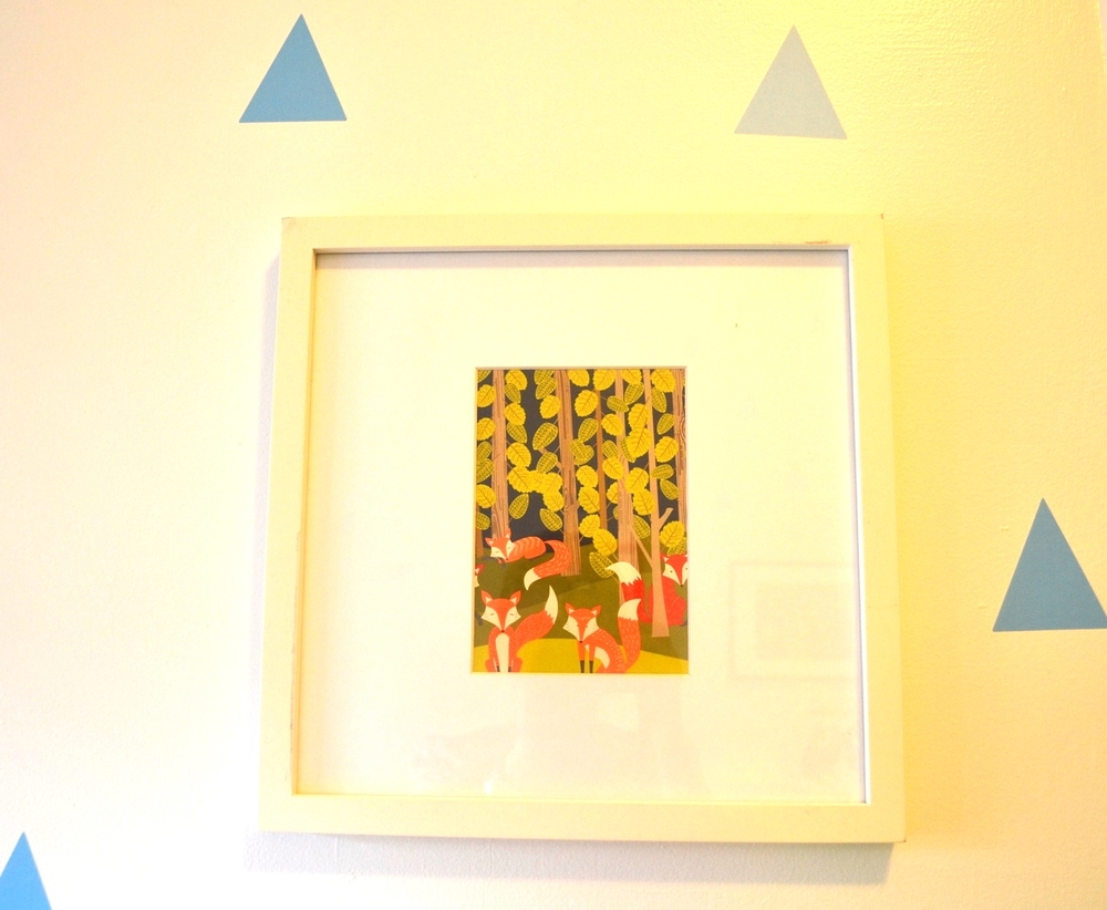 This was a D.I.Y. with a card from Paper Source + a West Elm Frame!