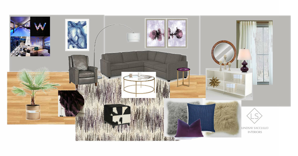 A W Hotel Inspired Living Room