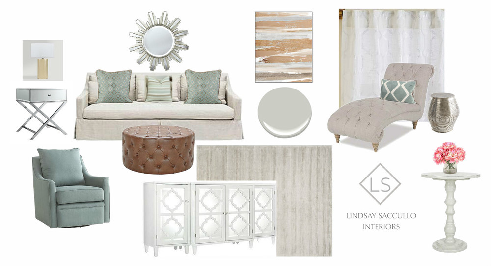 A Soothing TransitionalLiving Room