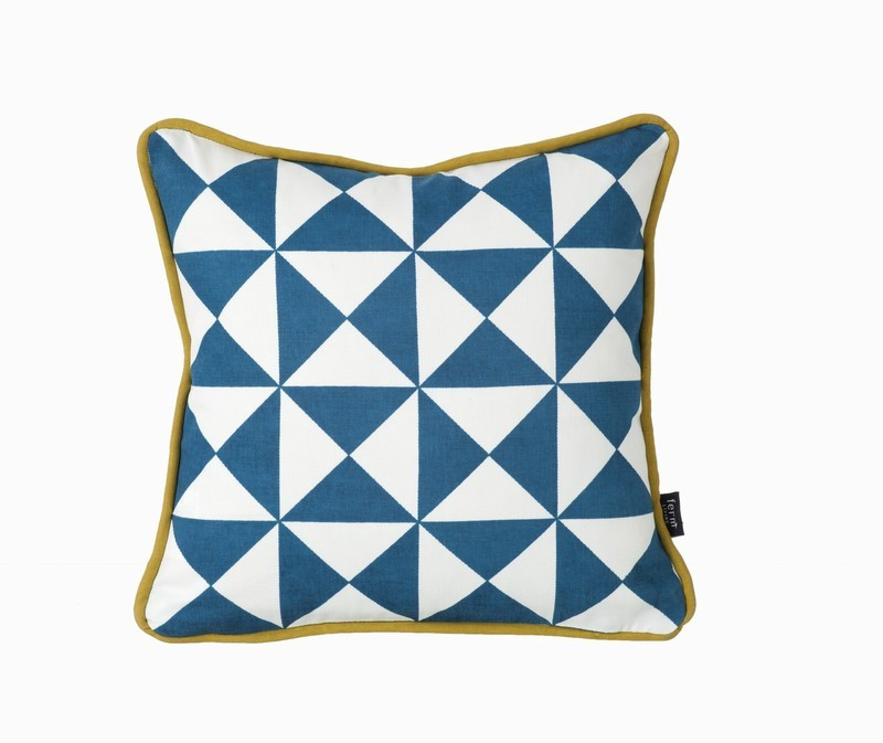 Little Geometry Pillow - Blue