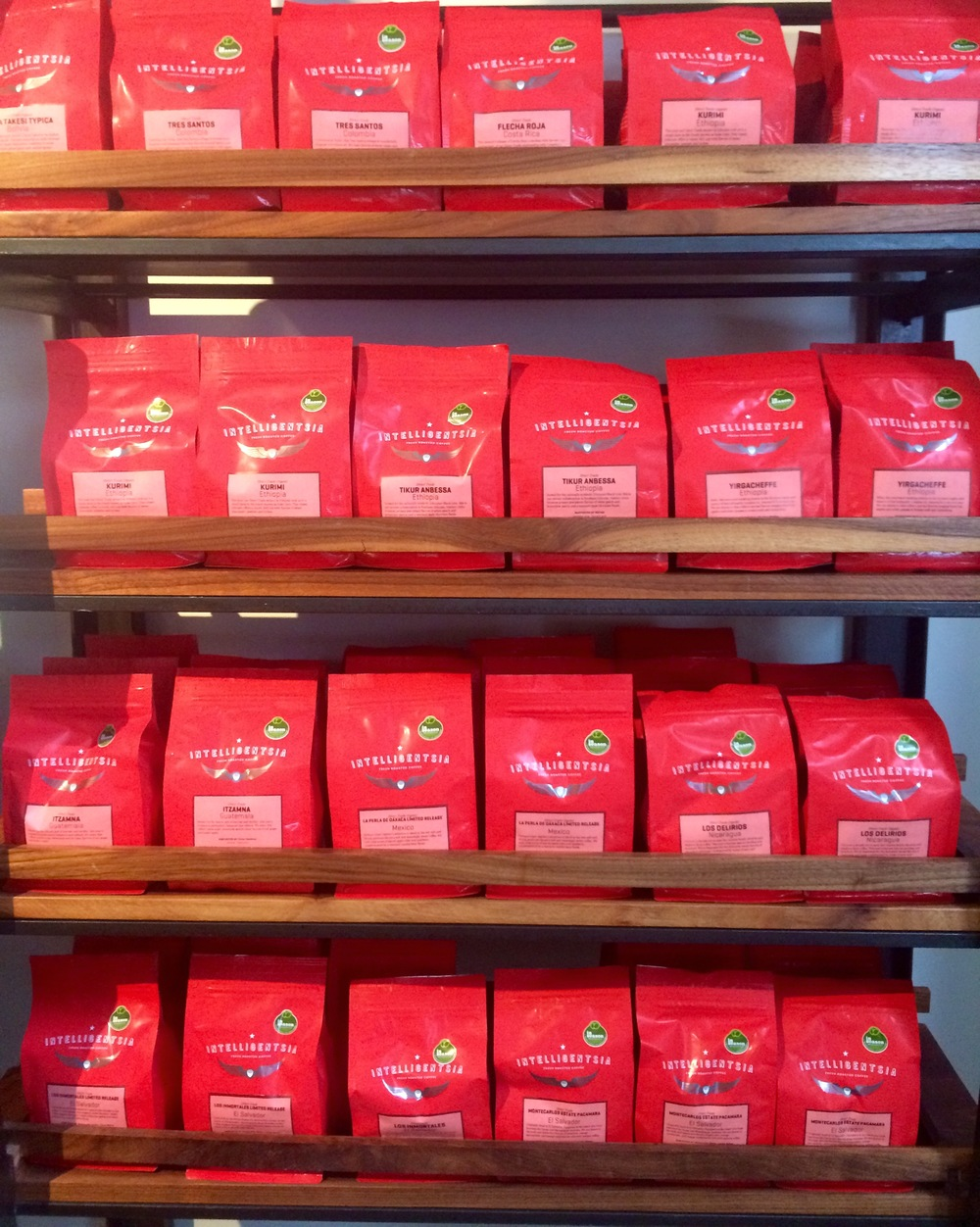 :: couldn't resist this #shelfie of intelligentsia beans::