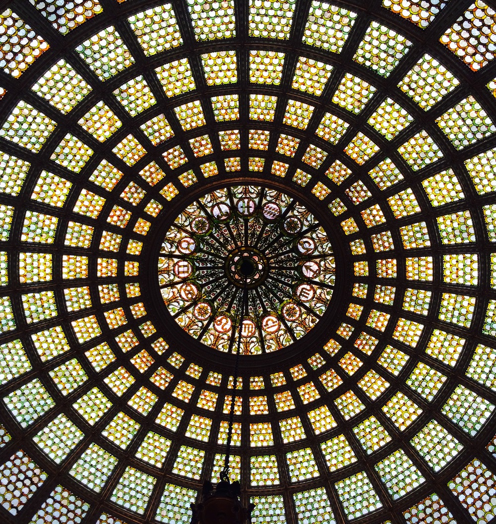 :: another breathtaking dome ceiling at the chicago cultural center ::