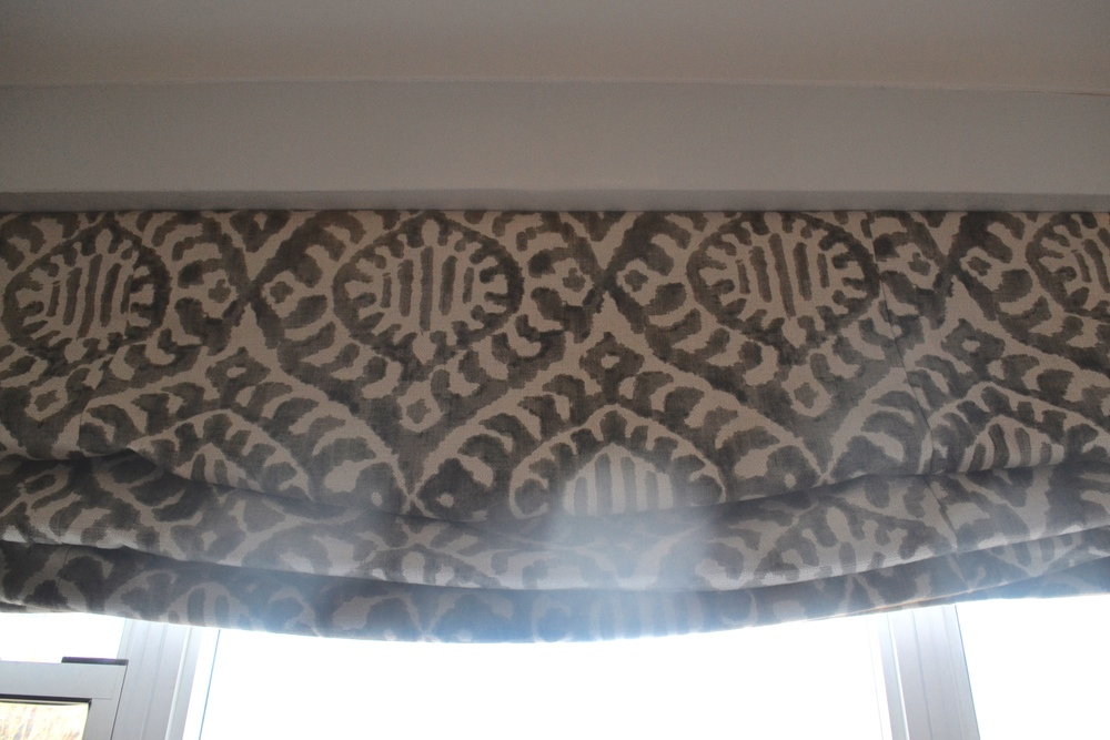 Client Crafty also lived up to her namesake by making these herself! Yes, she made her own roman shades!