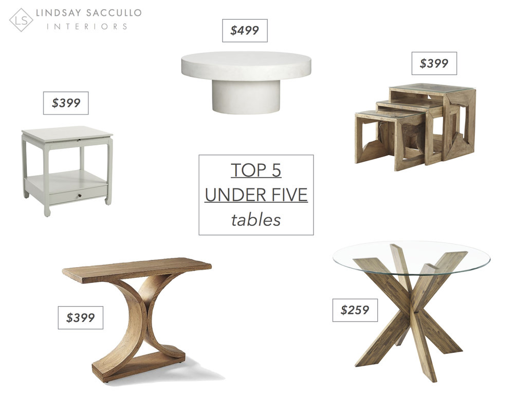 Side Table  //  Coffee Table  //  Nesting Tables  //  Dining Table  //  Console Table