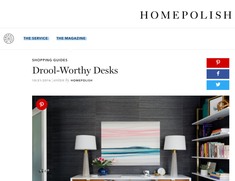 Homepolish - Drool Worthy Desks