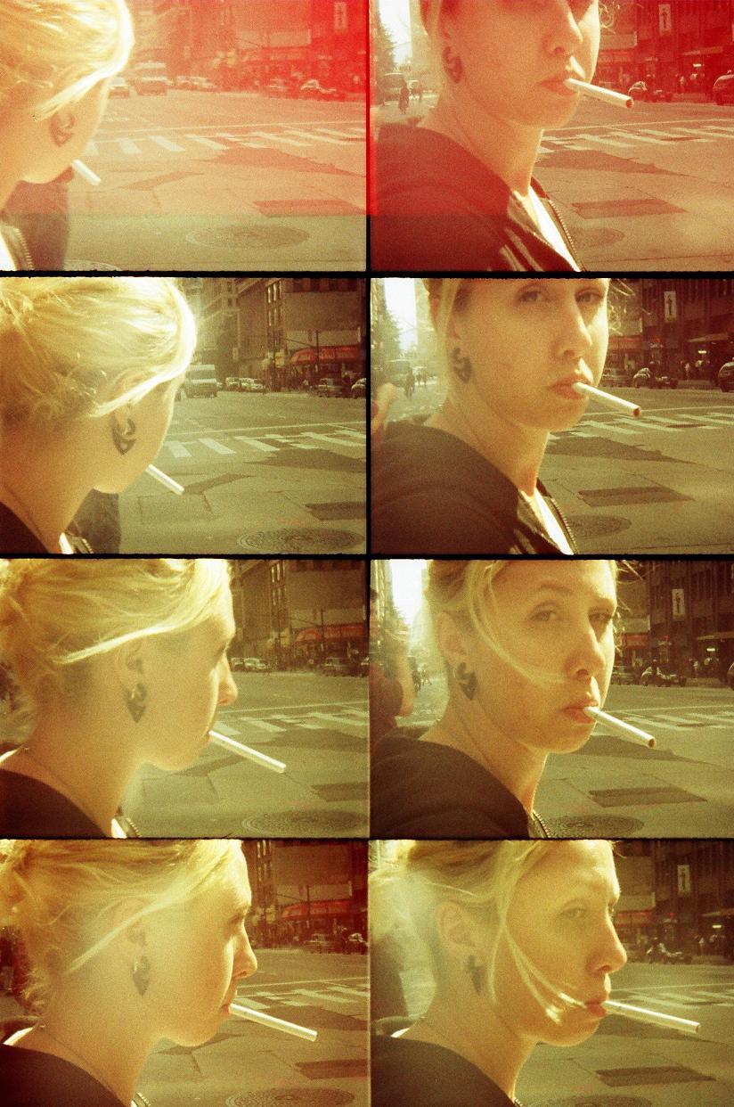 """Glow"" Dangerous Games series  by  Bosquejo Vida . Oktomat Bullseye, 35mm.manual overexposure. Model: Lady D"