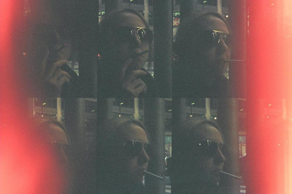 """Grainy Haze"" Dangerous Games s    eries  by  Bosquejo Vida  . Oktomat Bullseye  , 35mm.  manual over  exposure.  Model: Lady D"