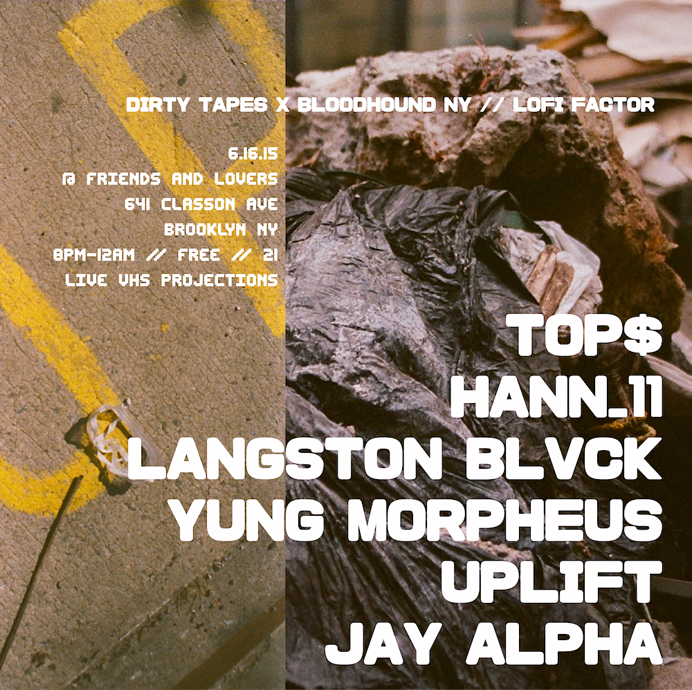 FLYER ART created by UPLIFT for  Dirty Tapes