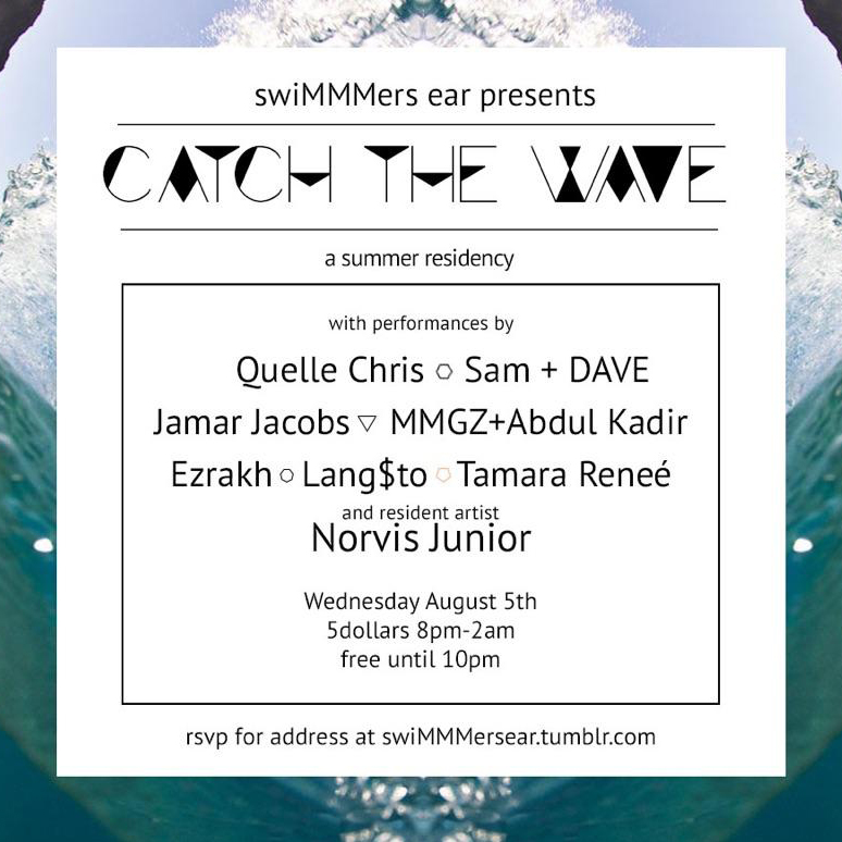 swimmmers ear presents catch the wave august 5th show