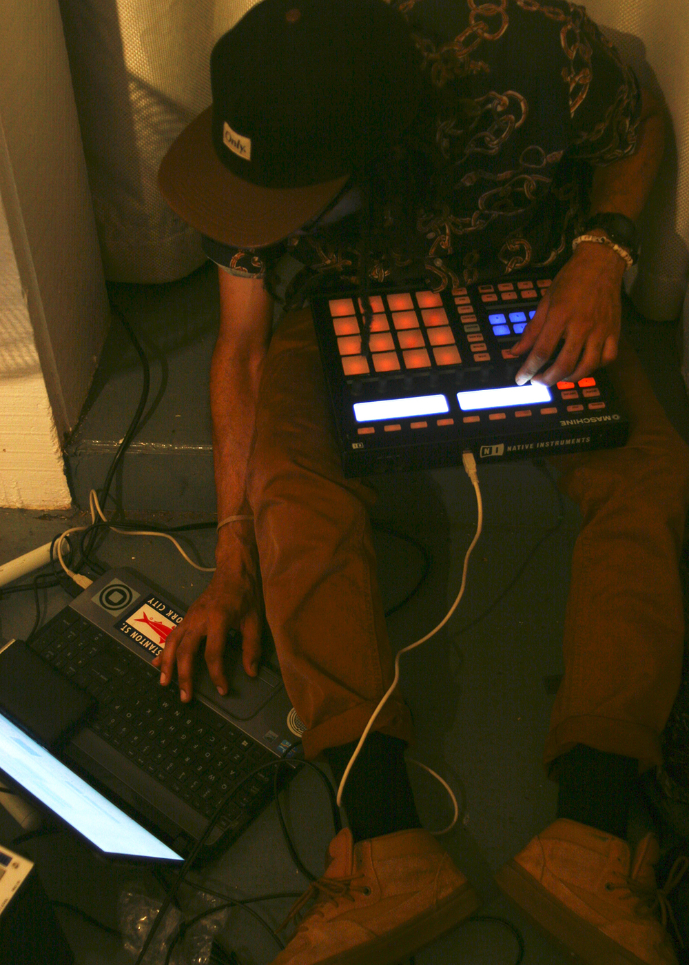 Beat maker/ Producer, Langston Black aka Langsto - Life and Death in The Age of Ghost art show, curated by Lateef Dameer at Undercurrent Projects Gallery (recap) Image 2