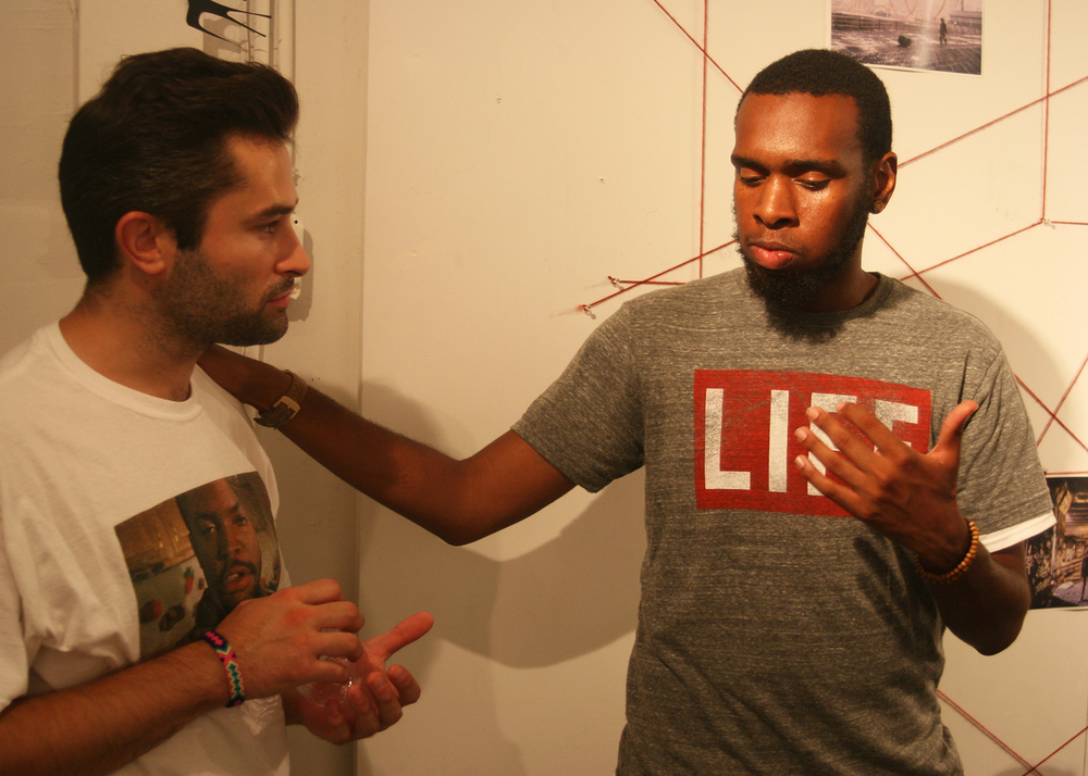 Beat Maker/ Producer, Tab Jones & Curator, Lateef Dameer - Life and Death in The Age of Ghost art show, curated by Lateef Dameer at Undercurrent Projects Gallery (recap) Image 1