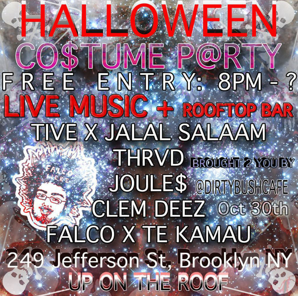 Dirty Bush Cafe presents Halloween Costume Party