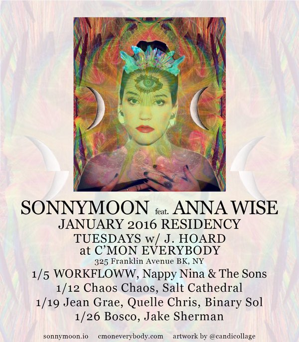 SONNYMOON featuring Anna The Wise January 2016 Residency- Tuesdays at C'Mon Everybody