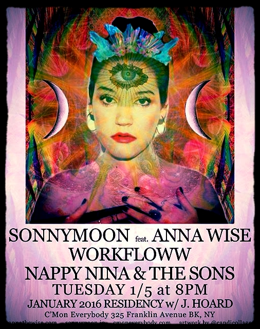 SONNYMOON featuring Anna Wise presents January 2016 Residency- Tuesdays at C'Mon Everybody 1/5
