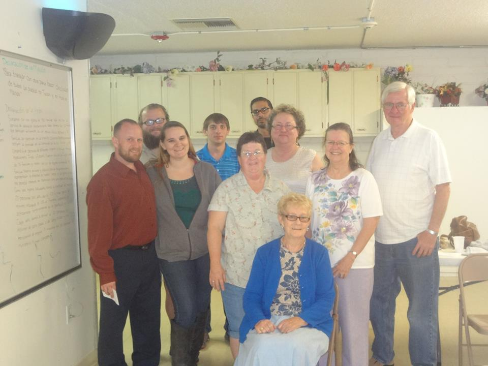 Members from Enchanted Hills Baptist Church after going out on a Door To Door Prayer Walk!