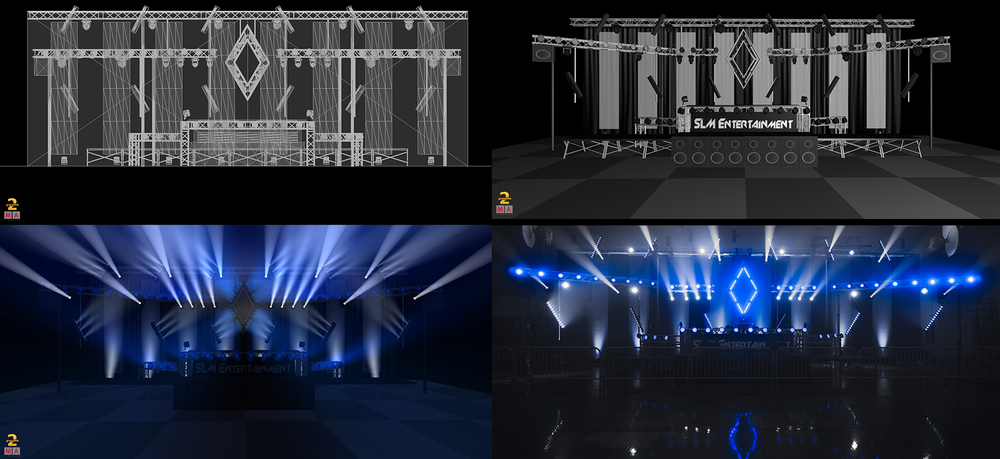 Lighting - By making use of 3D modeling software, we work with you to design your ideal lighting system.