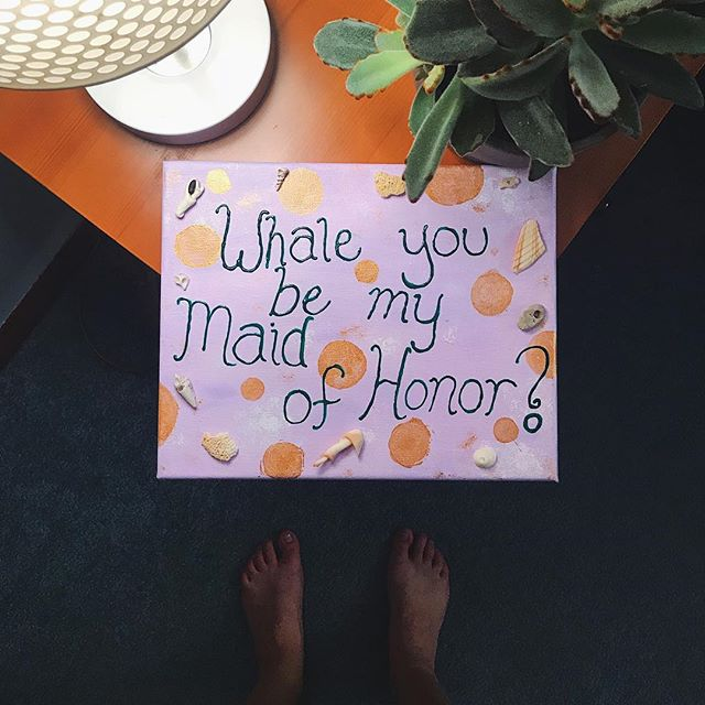 🐳 🏖 Yesterday I said yes to being the Maid of Honor for my best friend from high school at her Maine beach wedding. One year from today she will be looking gorgeous 👰🏻 walking down the aisle. Love you @jessiejay1216 !