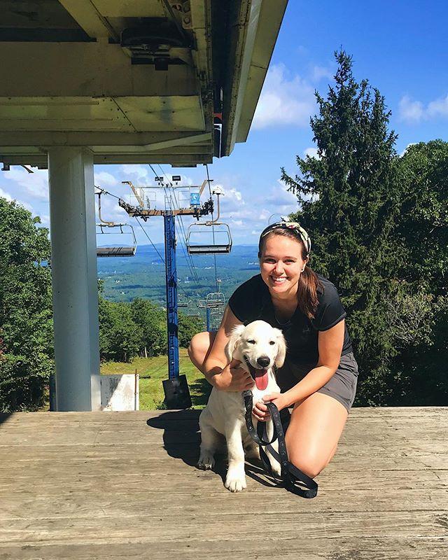 The most perfect day hiking with the most perfect pup, Stanley! . . . #dogsofinstagram #dogperson #wachusett #wachusettmountain #stanley #whitegoldenretriever #dog #dogs #dogstagram #doggo #doge #visitnewengland #massachusetts #hike #hiker #girlswhohike #sunday #sundayfunday #hikeMA #hikevibes #sundayhike #sundayvibes