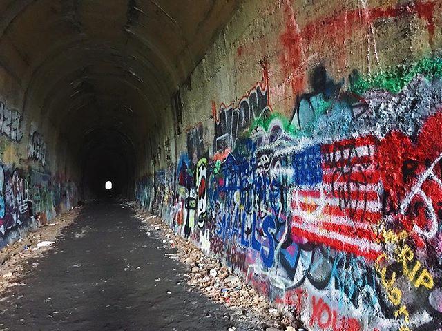 🇺🇸 Sunday exploring. . . . #discoverma #visitma #visitnewengland #cave #tunnel #tunnelvision #tunnelview #railroad #railroadtunnel #clintonma #explore #exploremore #getoutside #fall #fall2018 #massachusetts #graffiti #graffitiart