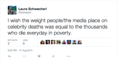 A tweet I wrote the day Robin Williams passed away