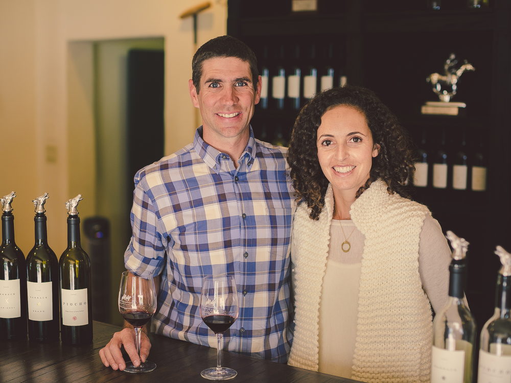 Sean and Jodi Pitts, Happy Canyon Winery & Tasting Room, Santa Barbara, CA