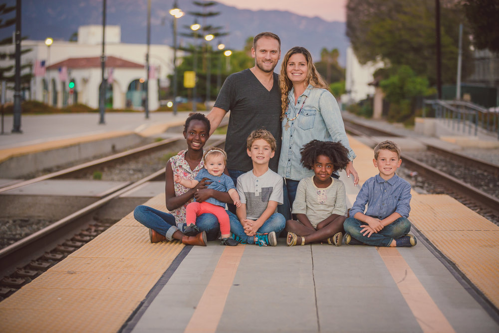 Family Portrait Session, Santa Barbara, CA / Santa Barbara Train Station