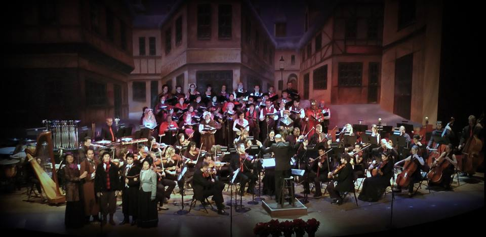 Christmas Carol in Concert - photograph by Eugene Carbajal