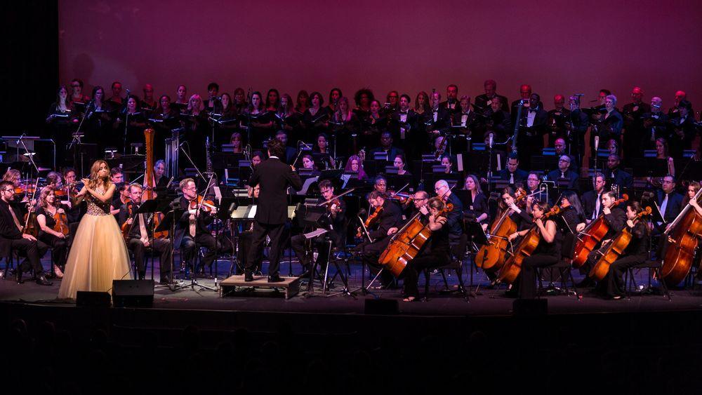 Sara Andon, Flute - Cliff Eidelman, Guest Conductor - GSPO Chorale
