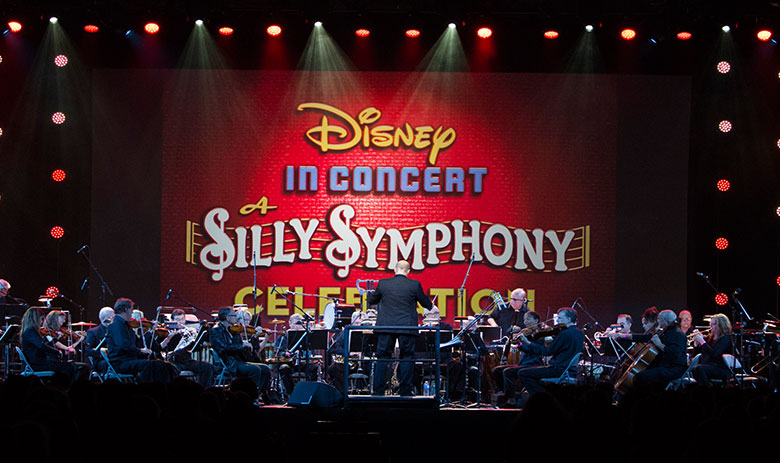 Maestro Fox conducting the World Premiere for Disney's D23 Convention in 2015