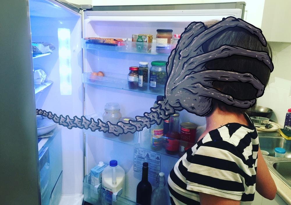 Facehugger fridge