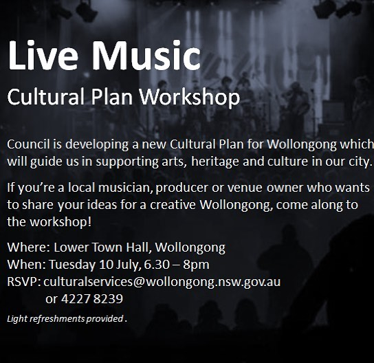 Interested in the future of music in the gong, wcc are putting on this event next tue 10th July.  Get along!!