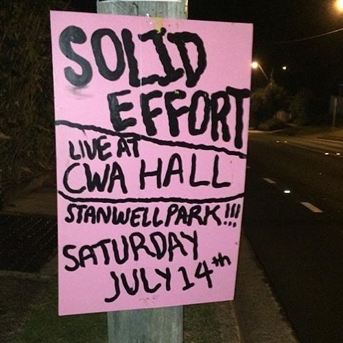 This sat @solid.effort at cwa in stannie!! Many more shows at cwa Hall please!!