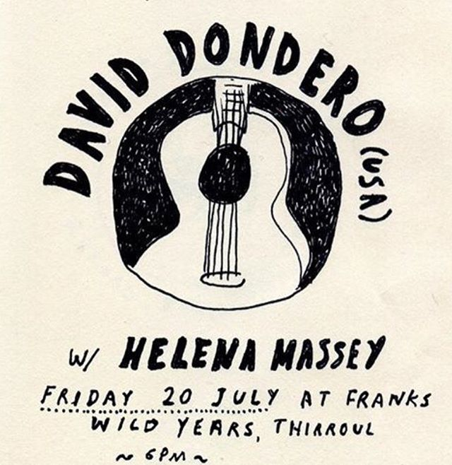 Two great songwriters in @daviddondero and @helenamassey at @frankswildyearsrecords next Friday.