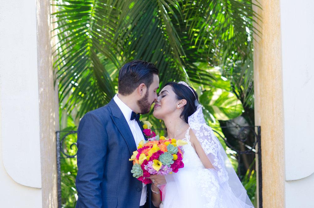 just married riviera maya