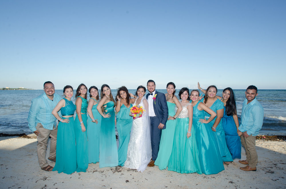 bridesmaids and bestmen