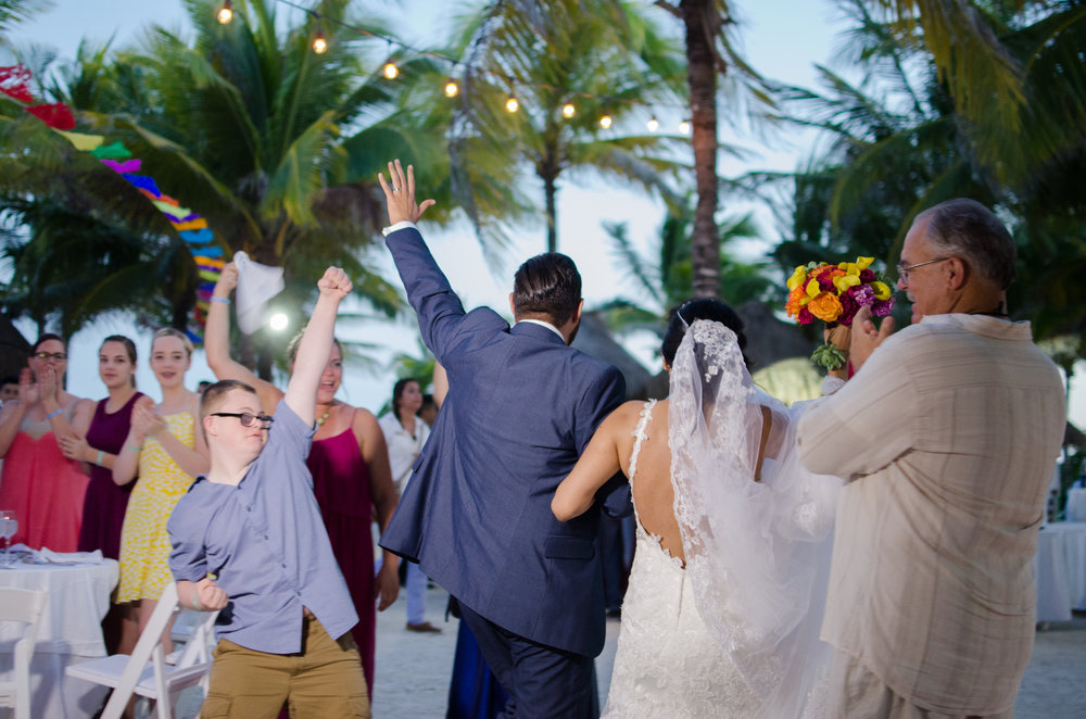 lets get the party started, just married