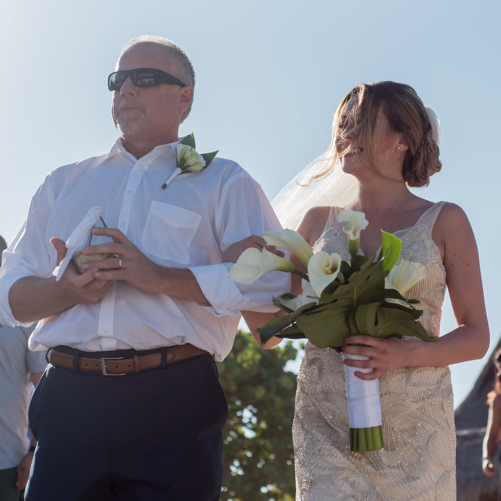 walking the aisle with dad