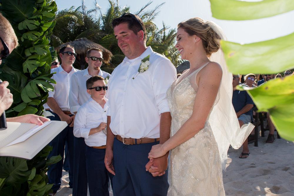 smiley bride & groom