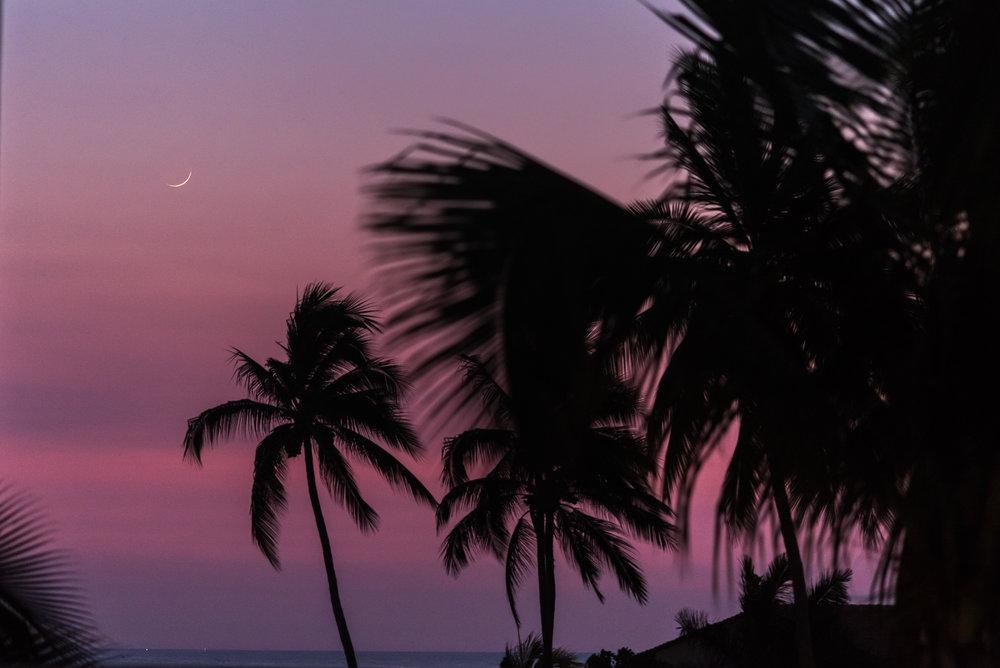 Moonrise after sunset