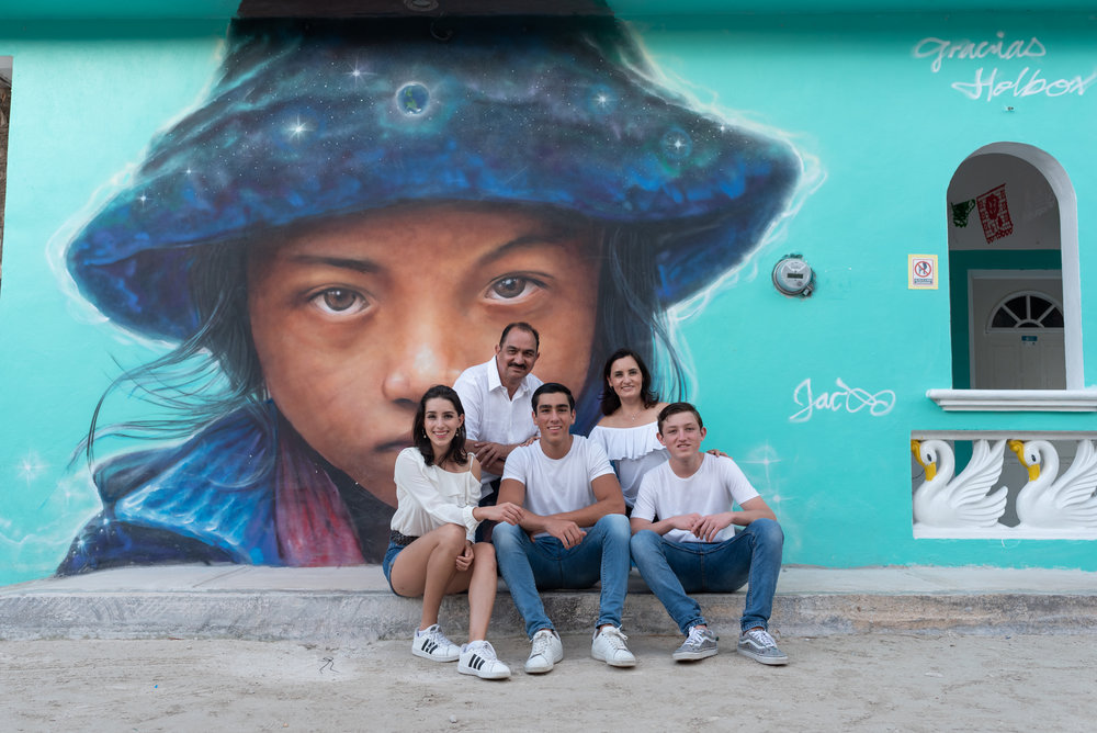 famous mural in Holbox