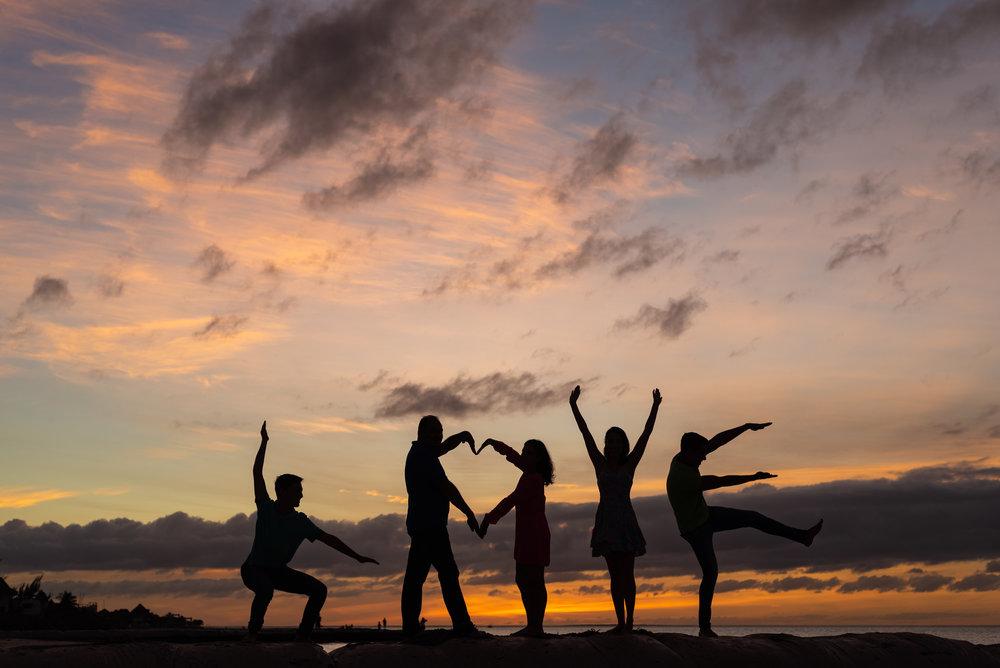 family silhouette love