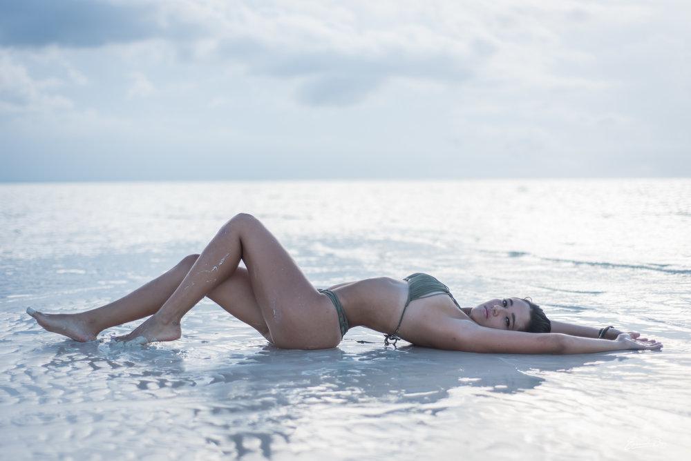 model in the sandbanks