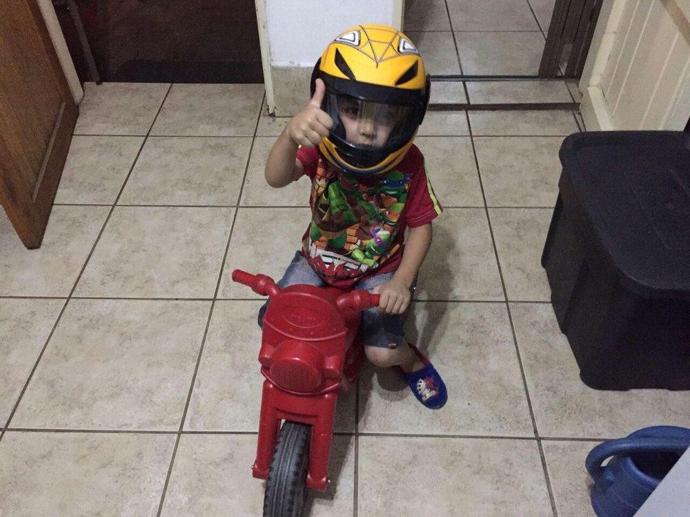 Praneel on his bike. Photo by Nutan Chibba, 11 December 2016