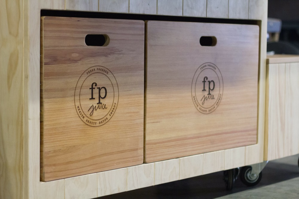 FP Juice // Wood Laser Engraving