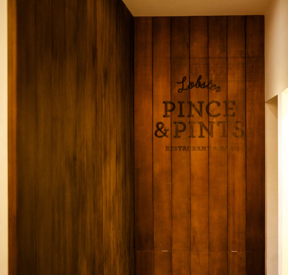 Pince & Pints // Wood Signage Laser Engraving