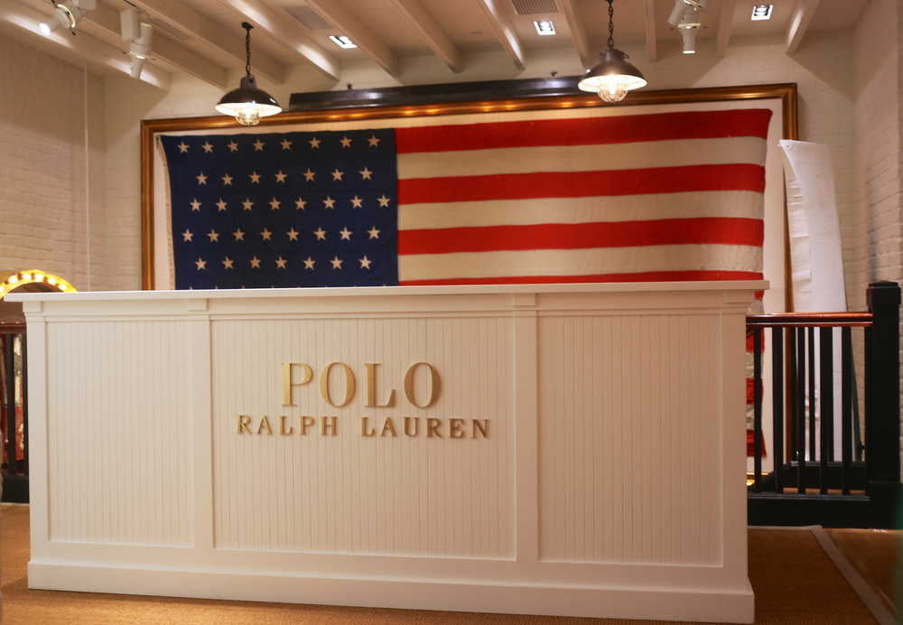Polo Ralph Lauren // Custom Counter with Laser Cut Words