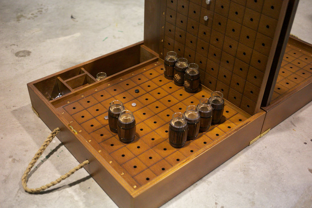 Monkey Shoulder // Custom Battleship Game Box
