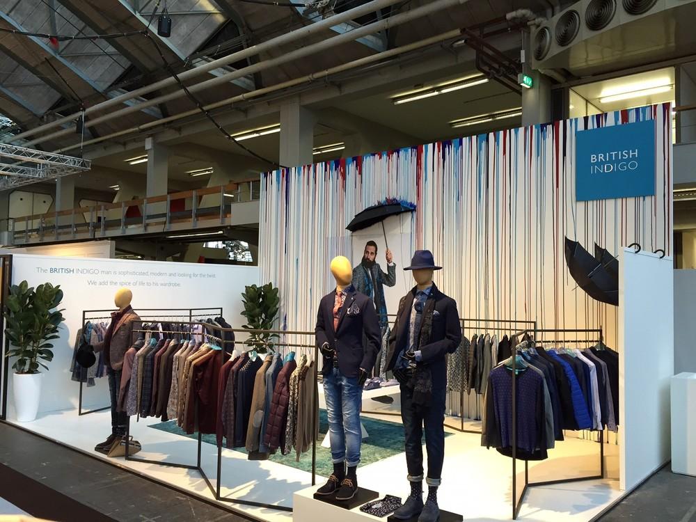 Britisch Indigo bord voor Amsterdam Fashion Week