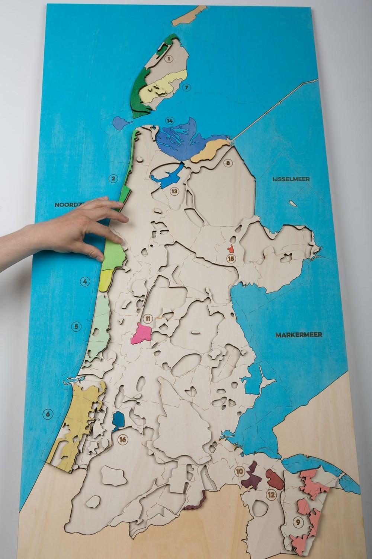 Hoogtekaart van Noord-Holland